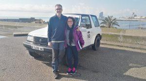 Gerard Bosch y su mujer en la salida